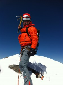Vaclav, felice, sulla vetta del Bernina