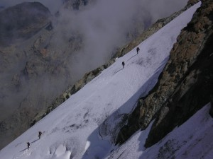 Discesa dal Pizzo Cambrena - Gruppo del Bernina