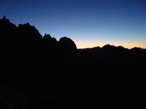 Cresta di Peuterey all'alba
