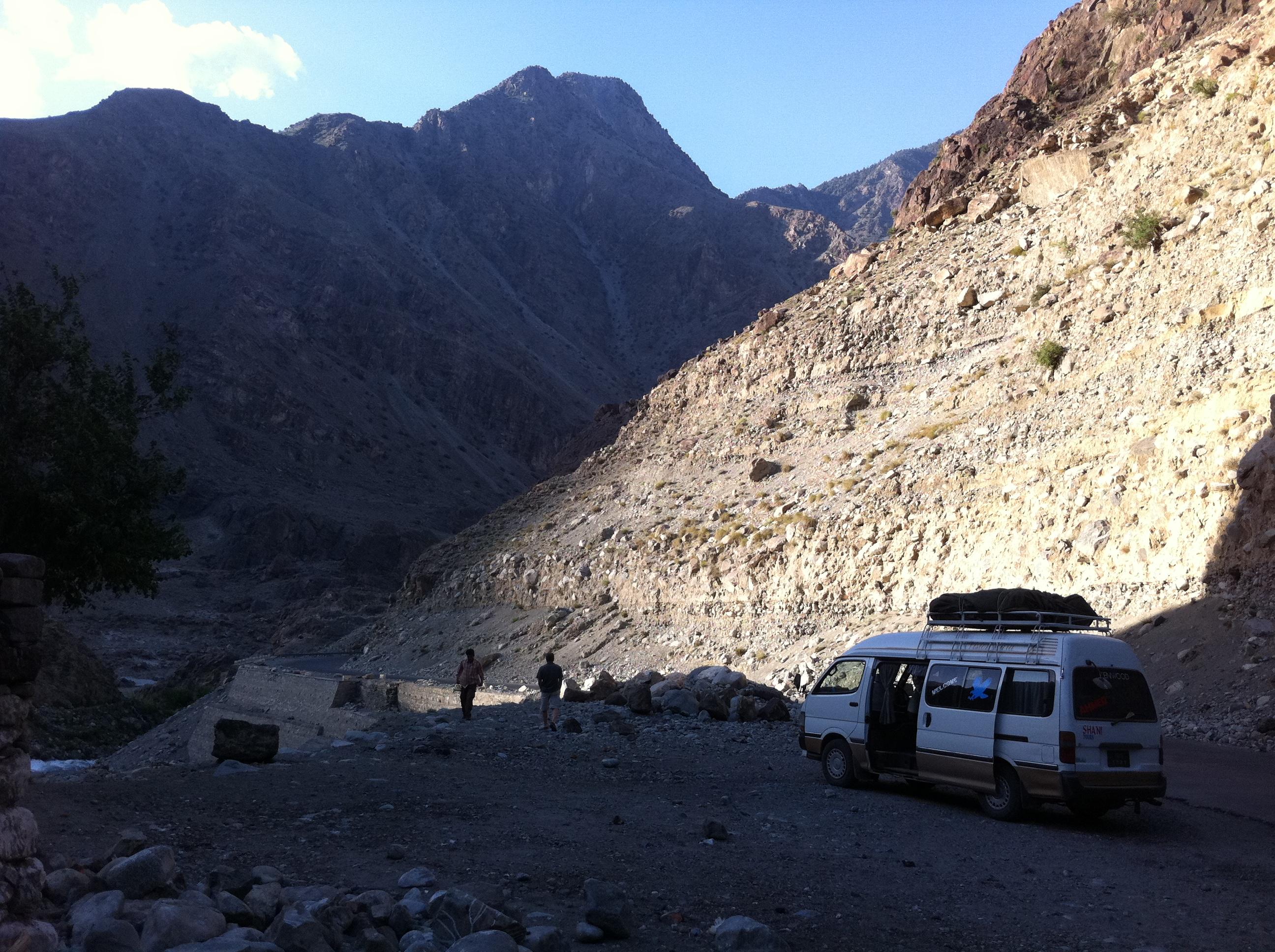 Lungo la Karakoram Highway.