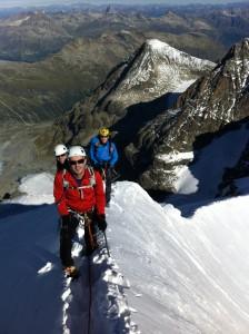 Greg, Ragis e Marco verso il Pizzo Bianco - Bernina