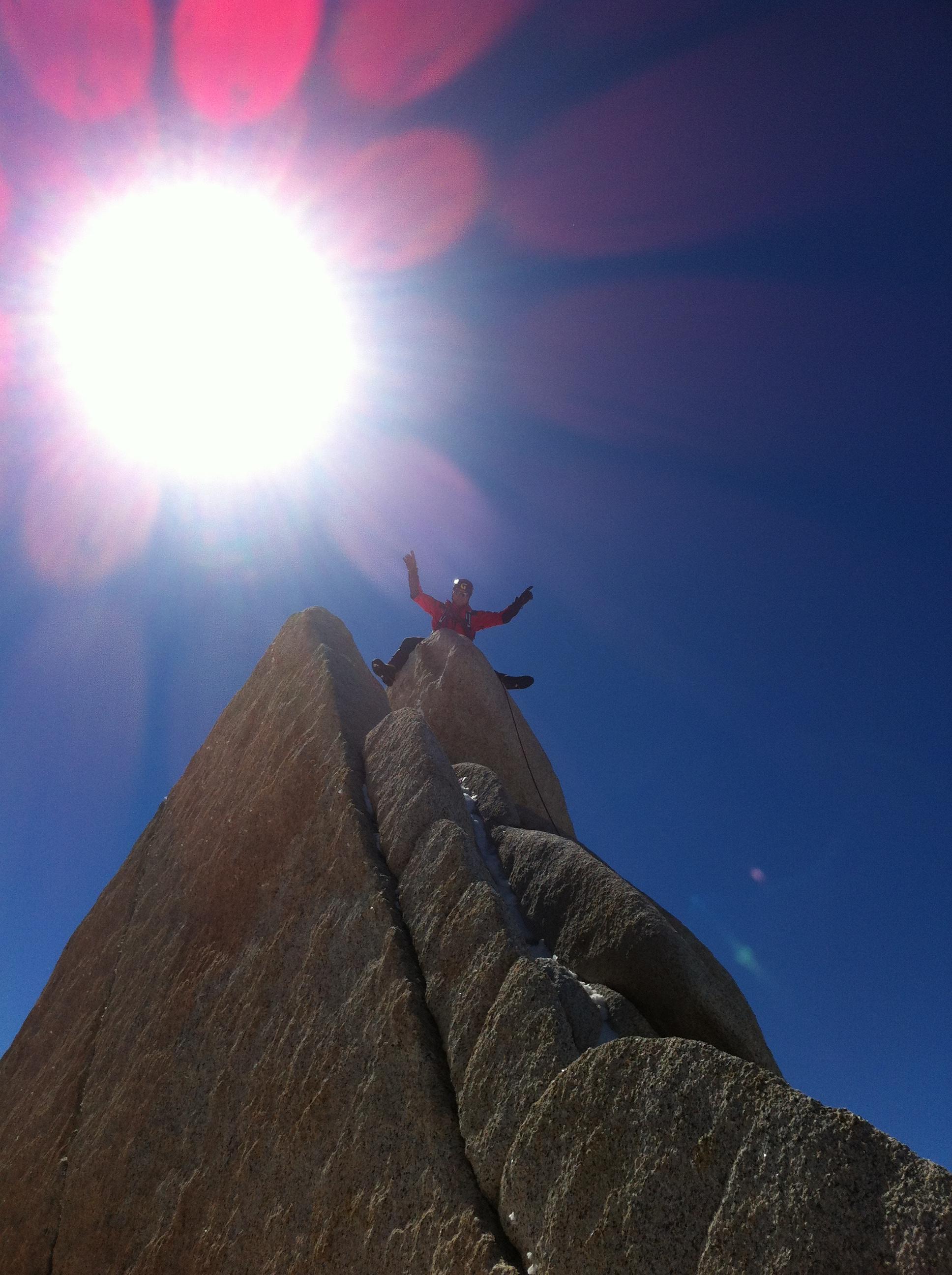 Aguja Guillaumet 2580 m.