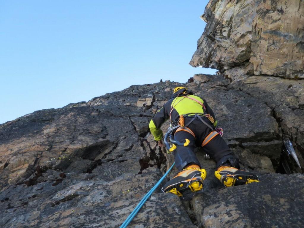 Farina impegnato sulla roccia